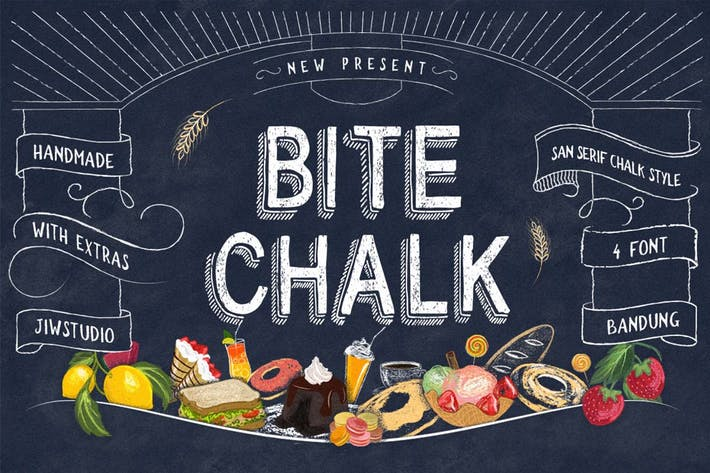 Thumbnail for BiteChalk Typeface + extras