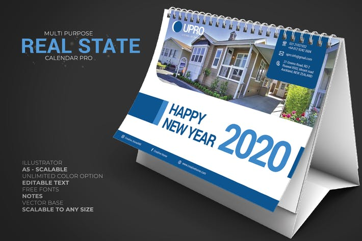 2020 Objekte/ Immobilien - Calendar Desk Pro