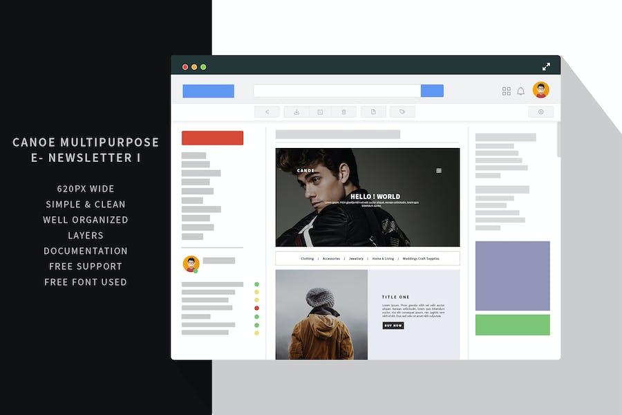 Canoe multipurpose e-newsletter I