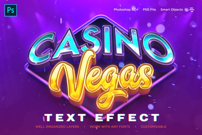 Thumbnail for Realistic Casino Logo Style 3D Text Effects
