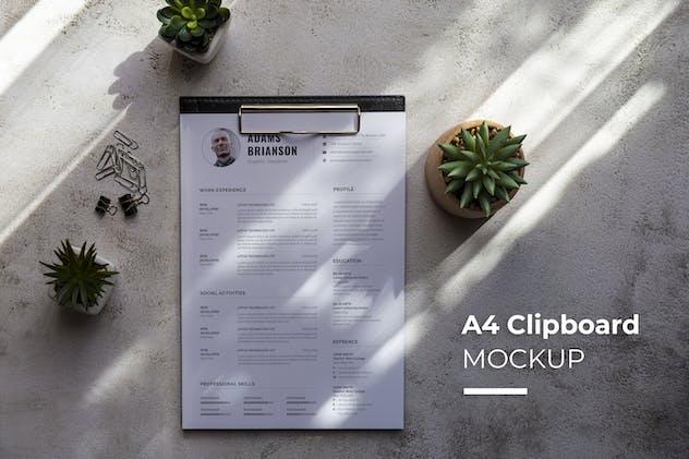 Resume CV on Clipboard Mockup