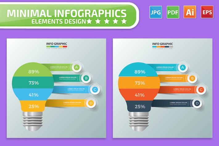 Thumbnail for Glühbirne Infografik Design