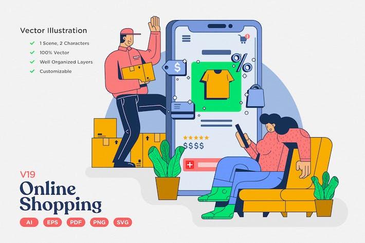 Thumbnail for E-commerce Vector Illustration: Online Shopping