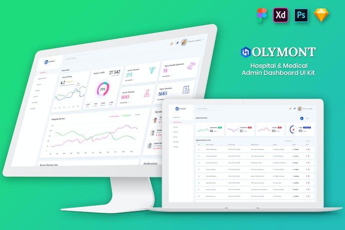 Thumbnail for Holymont - Medical Admin Dashboard UI Kit