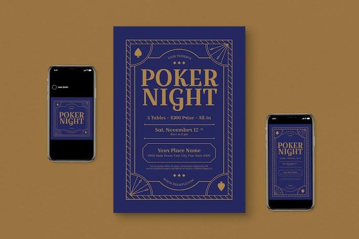 Thumbnail for Poker Night Flyer Set