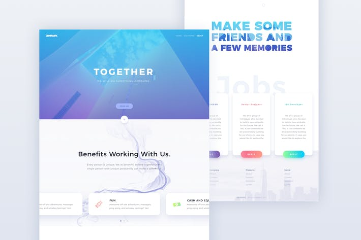 Thumbnail for Business One Page Web Template