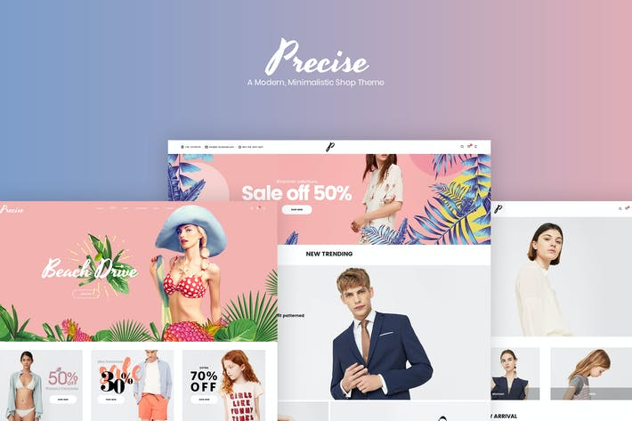 Thumbnail for Precise - A Modern, Minimalistic Shop Theme