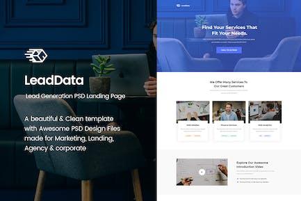 LeadData - Lead Generation PSD Landing Page