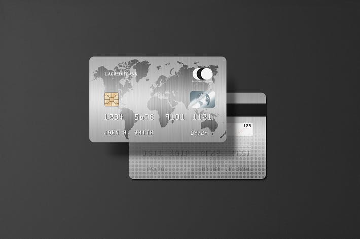 Thumbnail for Platinum Credit Card Mockup