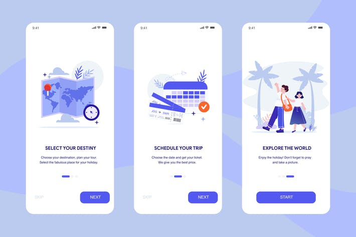 Thumbnail for Travel App Onboarding Illustration