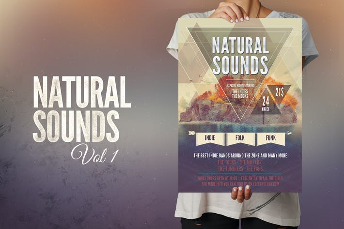 Thumbnail for Natural Sounds Flyer Poster