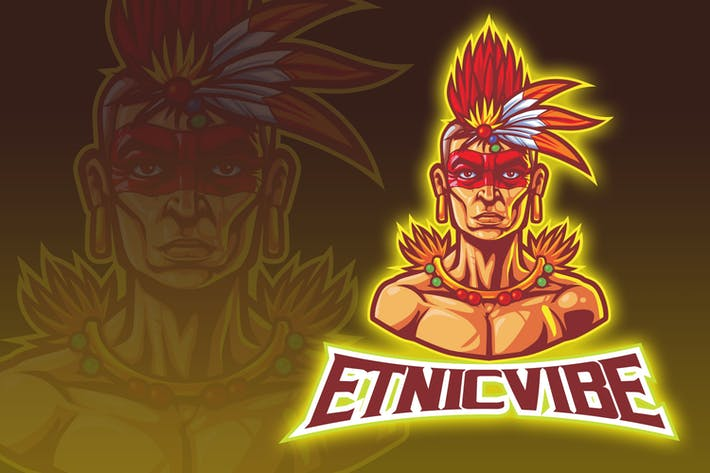 Thumbnail for Aztec Tribal Man Esport Logo