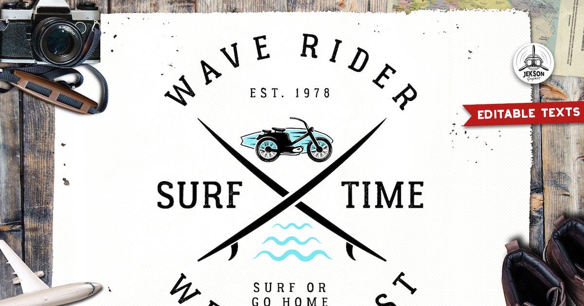Download Surfing Logo Template Design Adventure Badge Print by JeksonJS