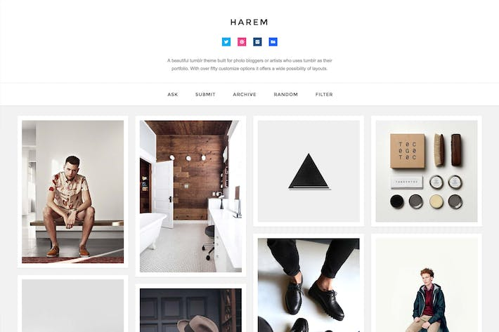 Thumbnail for Harem - Responsive Header Theme
