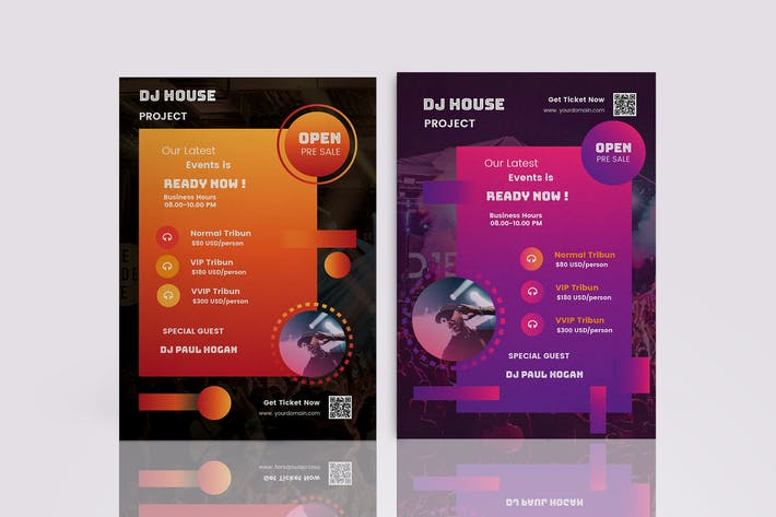 Thumbnail for DJ Music Events Flyer Template