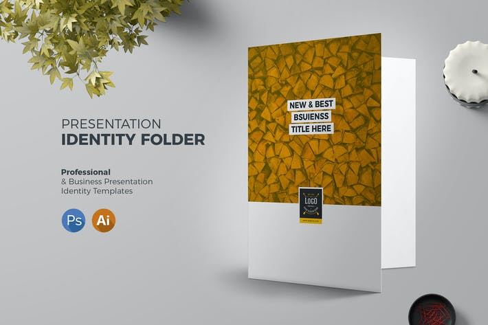 Thumbnail for Presentation Folder Template Retro 03