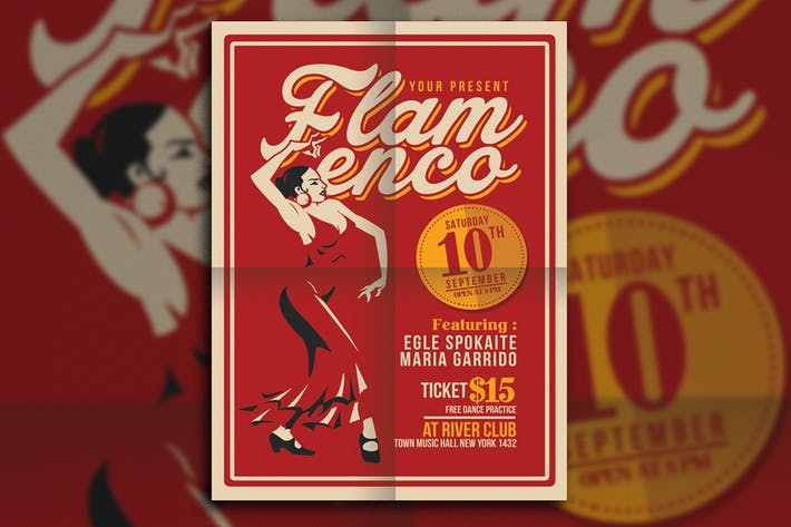 Thumbnail for Flamenco Flyer Template