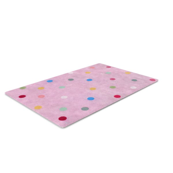 Thumbnail for Pink Polkadot Rug
