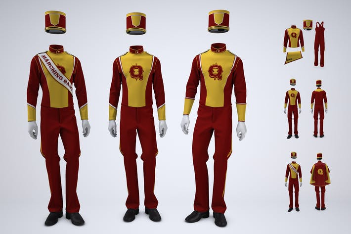 Marching Band Uniform Mock-Up