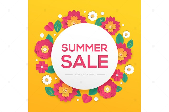 Thumbnail for Summer sale - modern vector colorful illustration