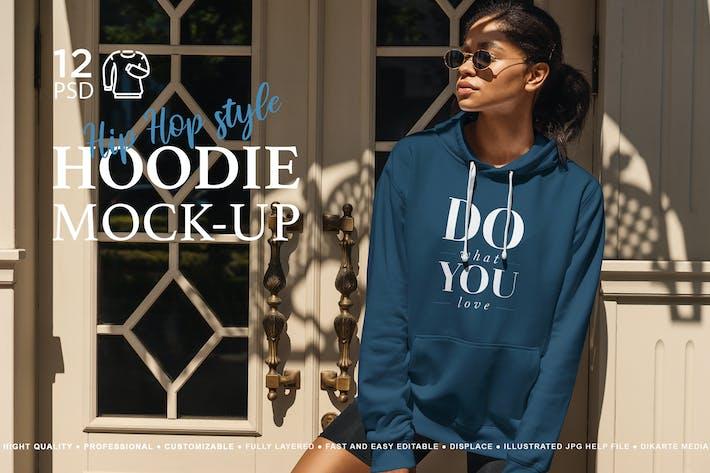 Hoodie Mock-Up Hip Hop Style