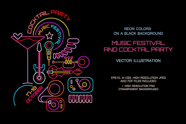 Thumbnail for Music Festival & Cocktail Party (3 Options)