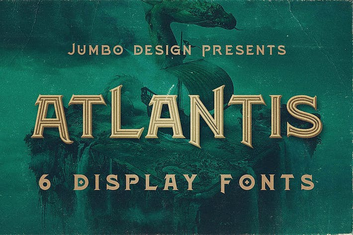 Thumbnail for Atlantis - Vintage Style Font