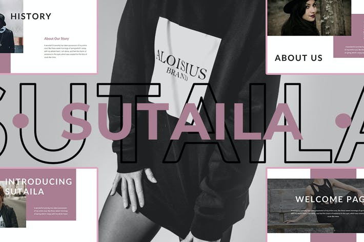 SUTAILA — Мода Keynote Шаблон