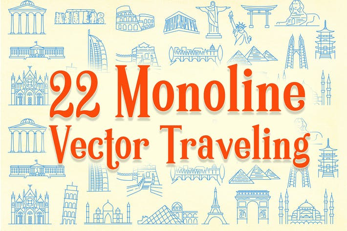 Thumbnail for 22 Monoline Vector Traveling