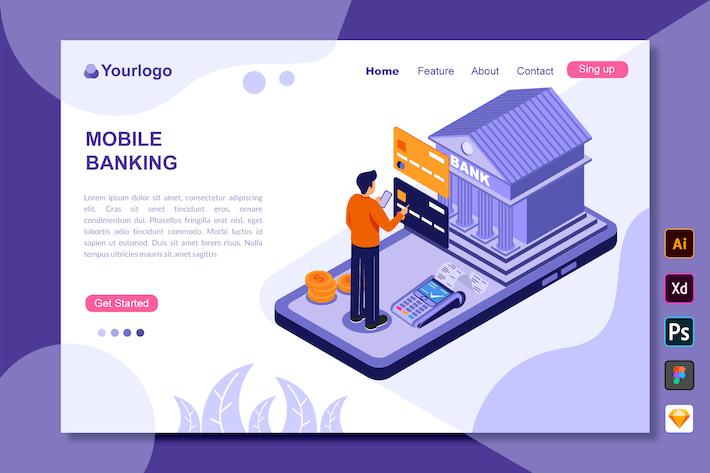 Mobile Banking - Landing Page