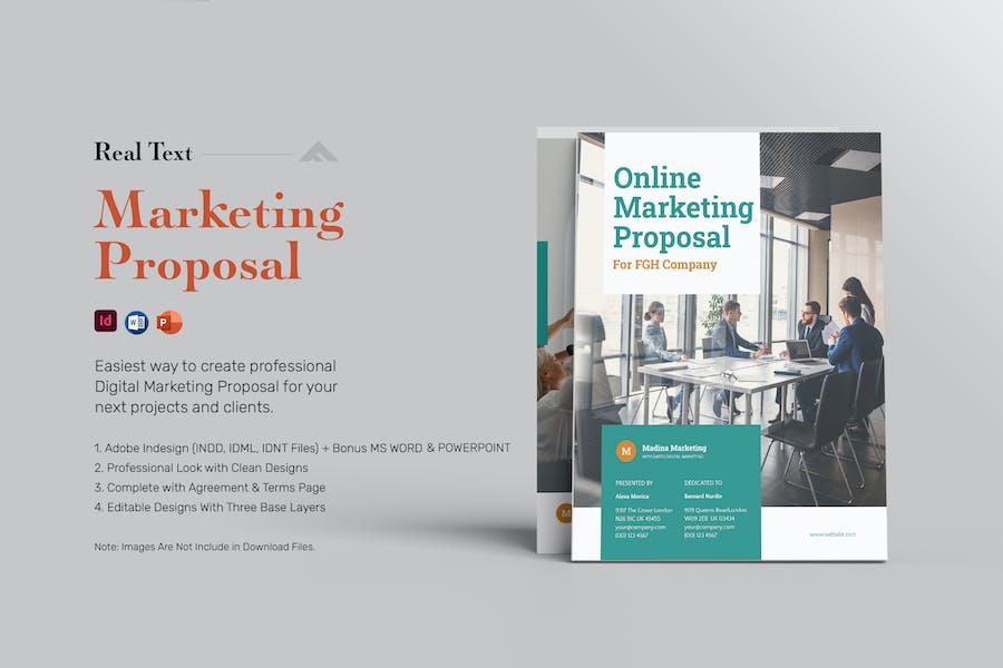 Digital Marketing Proposal - Real Text