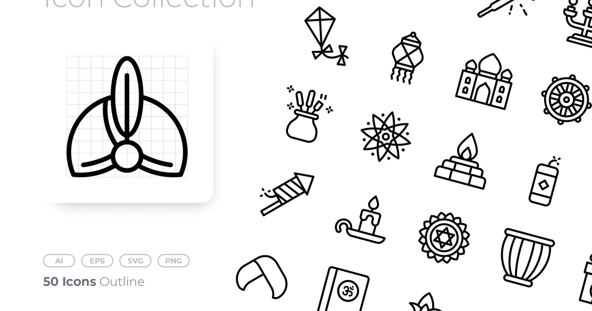 Download Diwali Outline Icon by GoodWare_Std