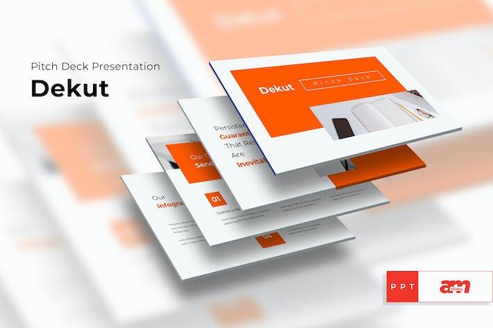 Thumbnail for Dekut Pitch Deck Powerpoint