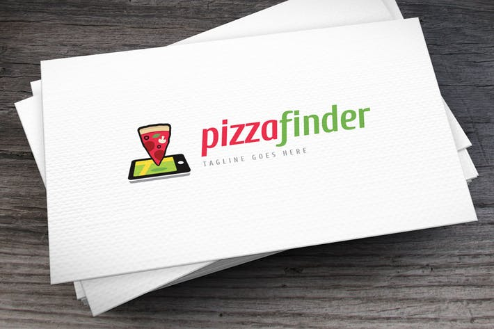 Thumbnail for Pizza Finder Logo Template