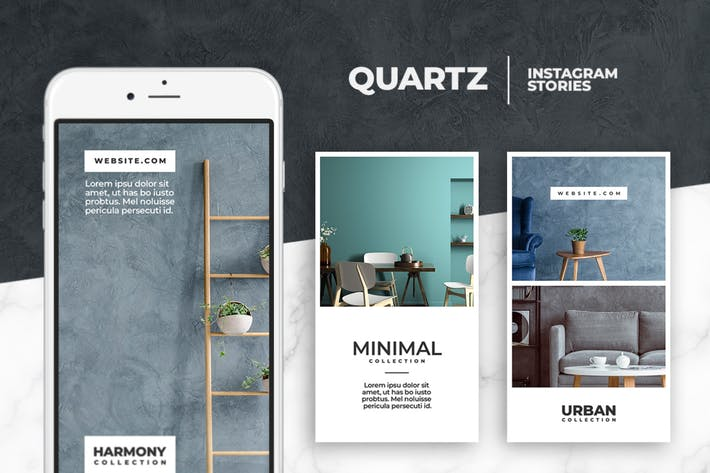 Thumbnail for Quartz - Instagram Story Templates