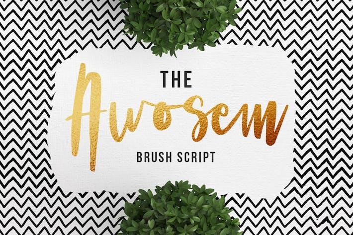 Thumbnail for Awosem Typeface