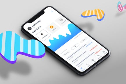 Cryptocurrency Wallet Mobile Ui - T