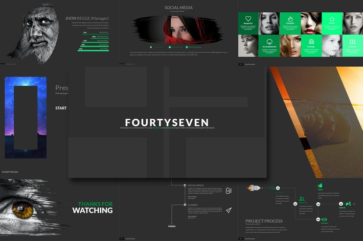 Thumbnail for Fourty 7 - Powerpoint Template