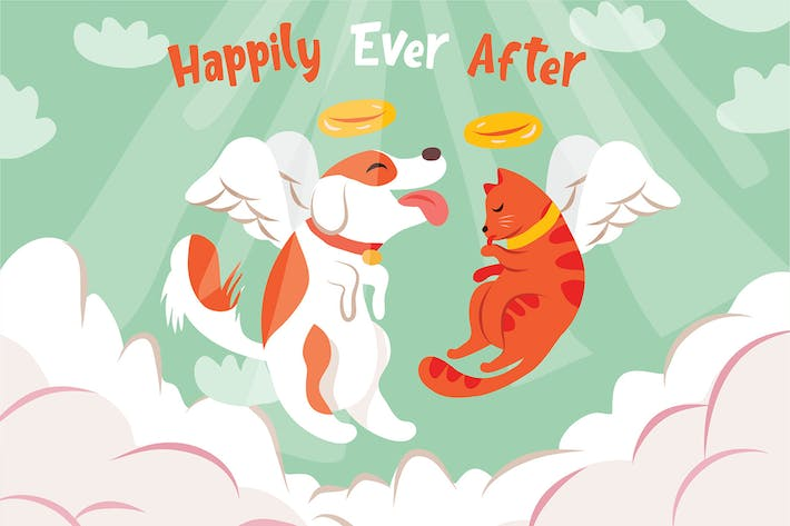 Cover Image For Happily Ever After - Vector Illustration
