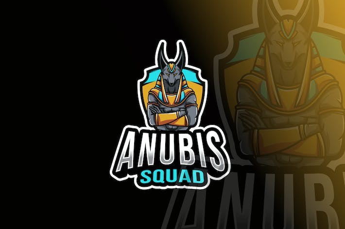 Thumbnail for Anubis Squad Logo Template