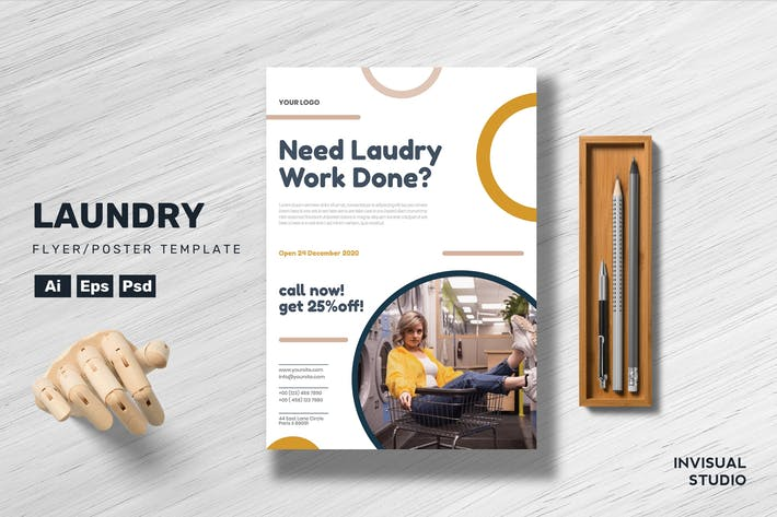 Thumbnail for Laundry - Flyer Template