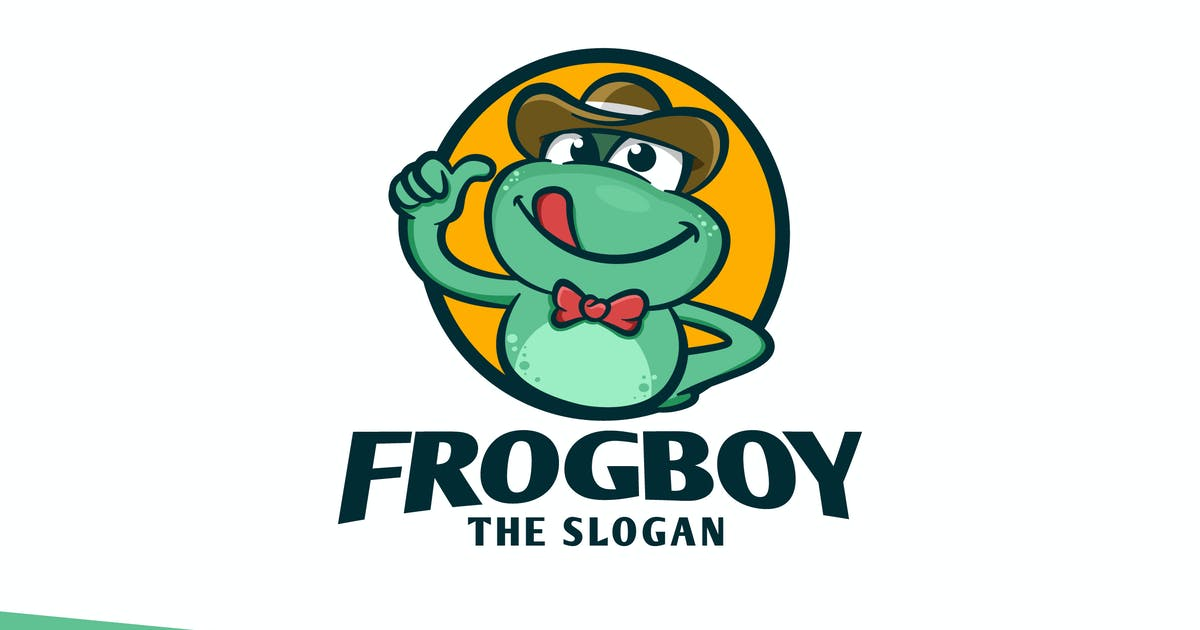 Download Retro Friendly Frog Mascot Character Logo by Suhandi