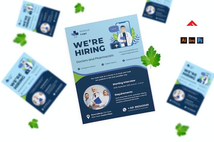 Thumbnail for Doktor Job Einstellen Flyer Werbung