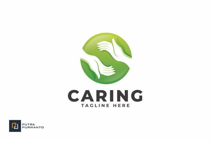 Cover Image For Caring - Logo Template