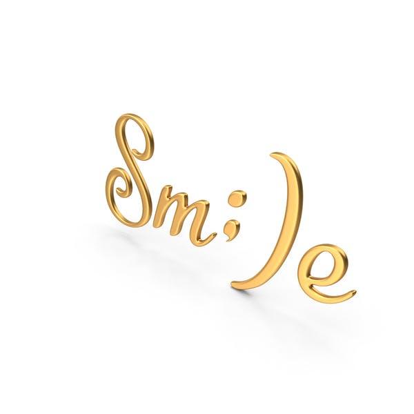 Signo de la sonrisa de la palabra oro