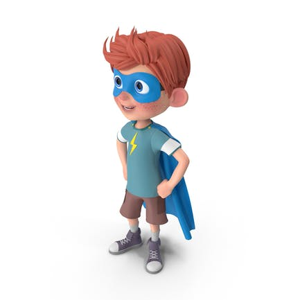 Cartoon Boy Charlie Superhero