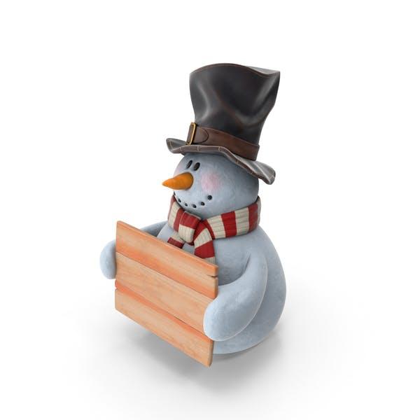 Snowman In Hat