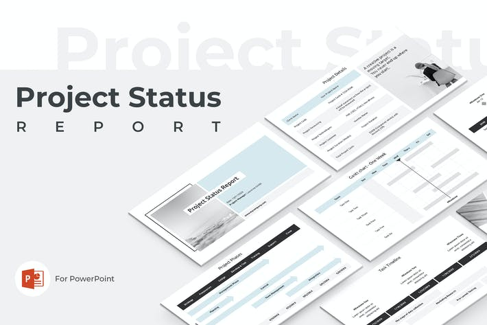 Cover Image For Project Status Report PowerPoint