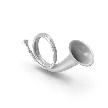 Silver Plated Hunting Horn