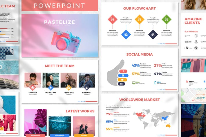 Thumbnail for Pastelize - Business Powerpoint Template